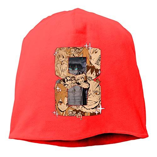 RXsXianR Gurren Lagann Beanie Hat Funny Winter Warm Knitted Hats Unisex Red