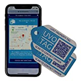 Location-Enabled Smart Luggage Tags - 2 Unique Large Web-Enabled Smart ID Tags for Luggage