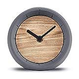 Cander Berlin, MNU 6712, orologio da tavolo silenzioso, in cemento e legno, sfera da 12 cm, silenzioso