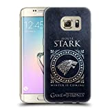 Head Case Designs Officially Licensed HBO Game of Thrones Stark Metallic Sigils Soft Gel Case Compatible with Samsung Galaxy S7 Edge