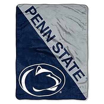 The Northwest Company Penn State Nittany Lions  Halftone  Micro Raschel Throw Blanket 46  x 60   Blue
