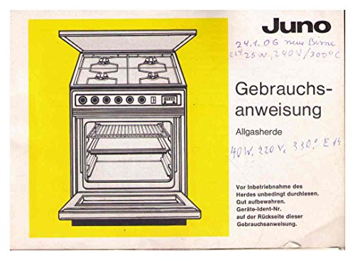 JUNO Allgasherde - Gebrauchsanweisung - 288109 - 12.86