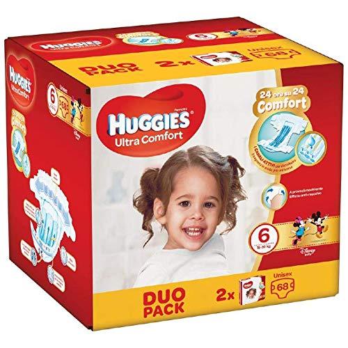 Huggies Huggies Ultra Comfort Windeln, Größe 6 (16-30 kg), 68 Windeln - 2630 g