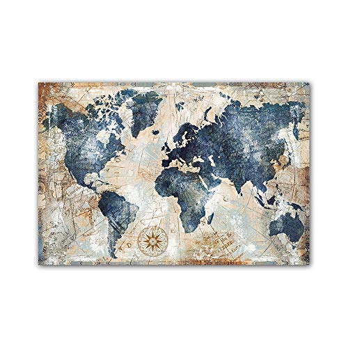 YGYT Map Canvas Wall Art for Vintage Large Old World Map Nordic Style Poster for Home I Unframed I 24x32 inches
