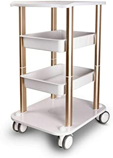 Beauty Equipment Tool Cart with Wheels,Multi-functional Rack Salon Beauty Spa Trolley Stand Cart(Style 6)
