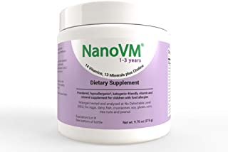 Solace Nutrition NanoVM 1-3 (275g) Flavorless Powdered Hypoallergenic, Carbohydrate Free Vitamin & Mineral Supplement, Des...