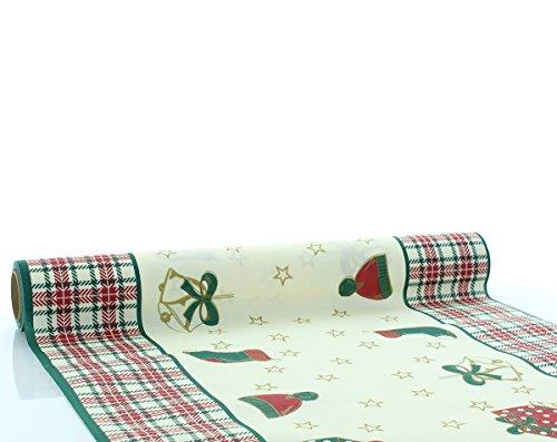 Sovie Home Tischläufer Amy | aus Linclass® Airlaid | Weihnachten Nostalgie klassisch Weihnachtsdeko | 40cm x 4,80m