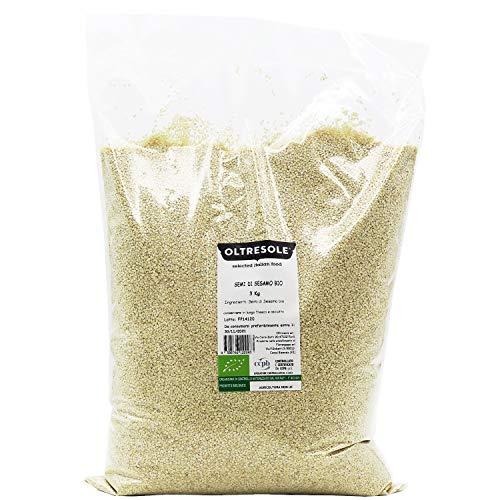 Oltresole - Semi di sesamo tostati biologici, fonte di calcio e di ferro, formato convenienza 3 kg