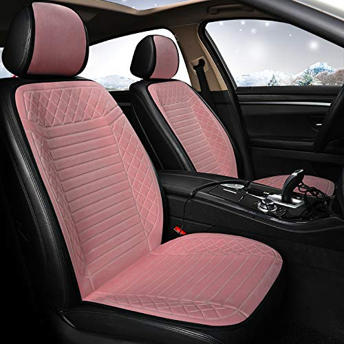 liangh Heat Car Seat Cover,12V Heated Seats Cushion,1 Pack Soft Comfortable Seat Warmer Pad,Drivers Heated Seats Pad to Relieve Fatigue and Warmth Body,Best Birthday Gifts for Him,Pink