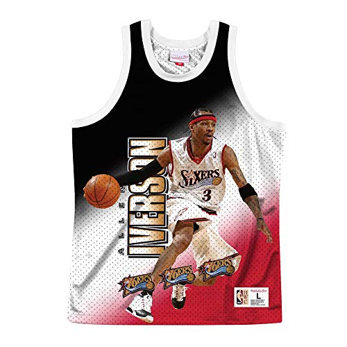 Mitchell & Ness NBA Behind The Back Tank Philadelphia 76ers Allen Iverson L
