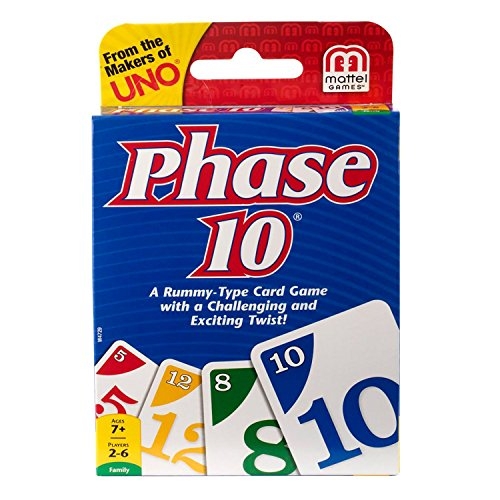 Mattel Games W4729 Phase 10® Card Game - English