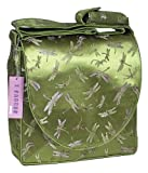I Frogee Olive Green Dragonfly Brocade Diaper Bags 12x12x4' Messenger Bag/Laptop Shoulder Bag