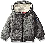Ben Sherman Baby Boys' Sweater Fleece Jacket, Heather Grey, 12M