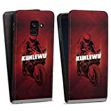 DeinDesign Flip Hülle kompatibel mit Samsung Galaxy A8 Duos 2018 Tasche Weiß Hülle Kuhlewu Motorrad Motorsport