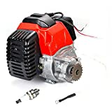 YILIKISS 49cc 2 Stroke Gas Scooter Engine for Mini Bike ATV Goped Buggy Stand Up Scooter Bicycle Motorized DIY Engine Motor Pull Start