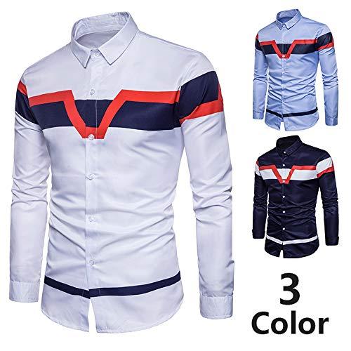 Delphinyy shirt met lange mouwen voor heren, bedrukt met lange mouwen, overhemden, voor mannen als revers lange mouwen, 2 x l