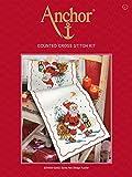 Anchor - Set de Punto de Cruz para Camino de Mesa, diseño de Papá Noel y Trineo