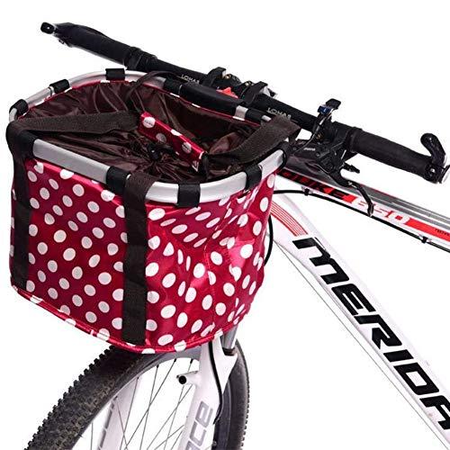 Affordable Removable Bicycle Handlebar Basket, Quick Release Pet Cat Dog Carrier Bike Basket, Hangin...