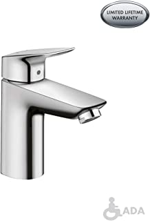 hansgrohe Logis Modern 1-Handle 6-inch Tall Bathroom Sink Faucet in Chrome, 71100001