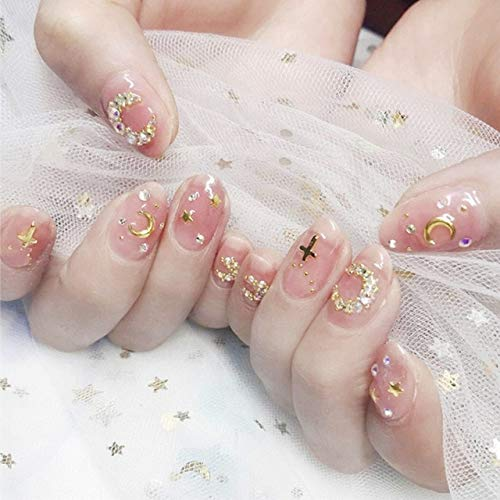 rpbll 24Pcs/box Full Cover Short round press on nails Pink Dripping Shape Heart Bride nail tips Wearable Fake Nail with Glue for girls style11