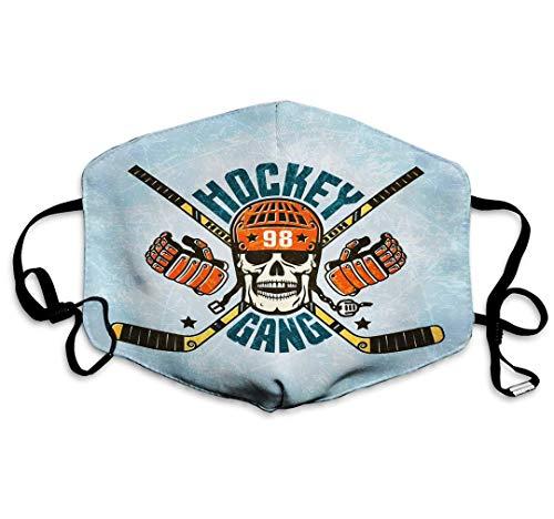 Gezicht Guard Mond Cover Hockey Logo Schedel Helm Handschoenen Sticks Ed Texture Ice Wasbaar Herbruikbare Veiligheid, Kids Tieners