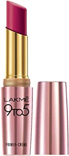 Lakme 9To5 Primer + Crème Lip Color, Carmine Kick CR2, 3.6 g