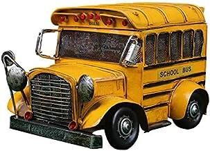 Ônibus Escolar de Metal New York com Caixa Organizadora + Chaveiro - 30cm