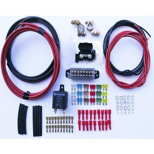 Desconocido Kit para instalación de batería Auxiliar con Relé Automático Mahle (Antiguo Nagares...