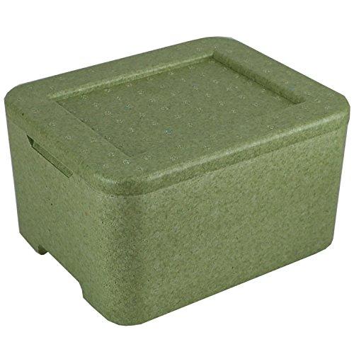 1x W3 Thermobox grün für 3 Menüschalen | Styropor | wiederverwendbar wiederverwendbare MENÜBOX-Transportbehälter für Catering und Lieferdienste