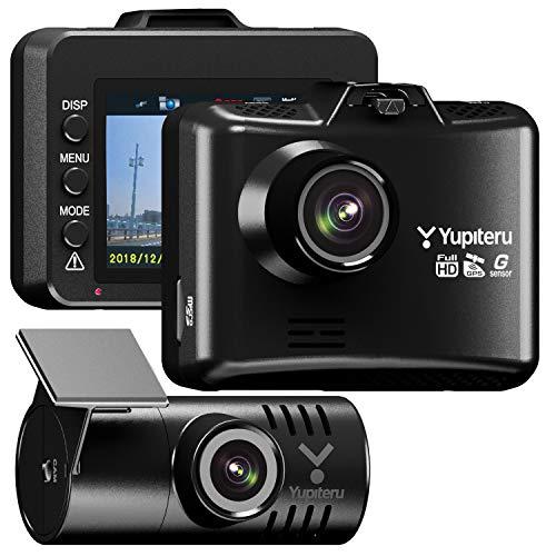 ユピテル 前後2カメラ ドライブレコーダー WDT600 電源直結コードモデル 前後200万画素 Full HD ノイズ対策済 LED信号対応 専用microSD(16GB)付 1年保証 Gセンサー GPS 駐車監視機能付 リアカメラケーブル9m 【WEB限定モデル】 Yupiteru