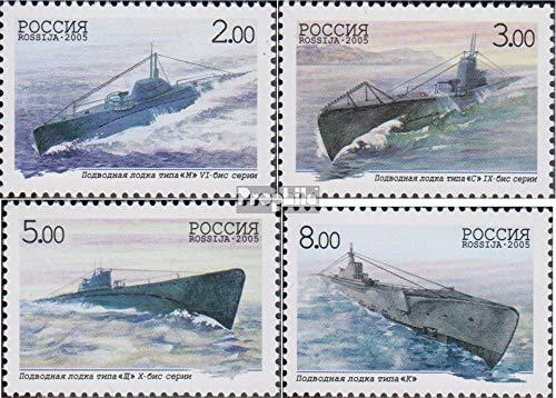 Prophila Collection Russland 1236-1239 (kompl.Ausg.) 2005 Russische U-Boot-Flotte (Briefmarken für Sammler) Seefahrt