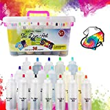 Tie Dye Kit, 18 Colors Fabric Fabric Dyes DIY Kits for Adults and Kids,DIY Tie Dye with Pigments, Rubber Bands, Gloves and Table Covers for Craft Arts Supplies Group Party