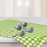 sycamorie 4 x Tischdeckenbeschwerer Tischdeckengewichte Antik Gusseisen 'Vogel' Beschwerer für Tischdecke Gartentisch Tischtuchgewichte Tischtuchbommeln (Grün) - 8