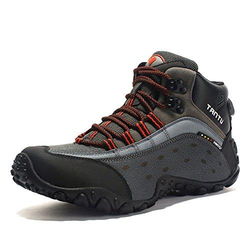 PP FASHION Men's Outdoor High Top Trekking Hiking Boots Walking Shoes Sneakers Orange CN43/US9.5