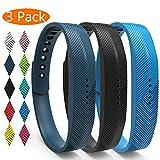 KingAcc Compatibilit du Bracelet Fitbit Flex 2,Souple Remplacement Bracelet pour Fitbit Flex 2, Boucle en Métal Bande de Fitness...