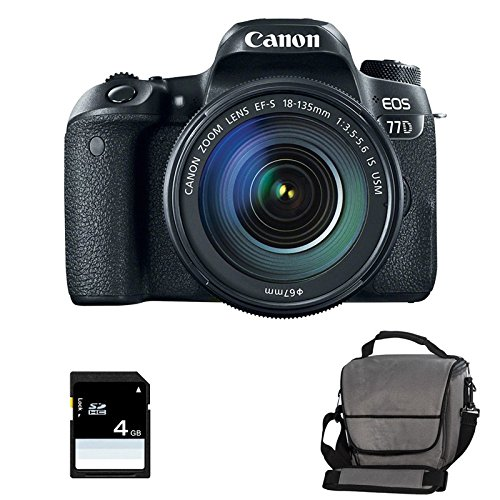 CANON EOS 77D + 18-135 IS + Sac + SD 4Go