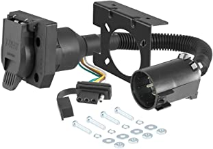 CURT 55774 Dual-Output Vehicle-Side Trailer Wiring Harness Connectors for Select USCAR Vehicles, 7-Pin Trailer Wiring, 4-Pin Trailer Wiring