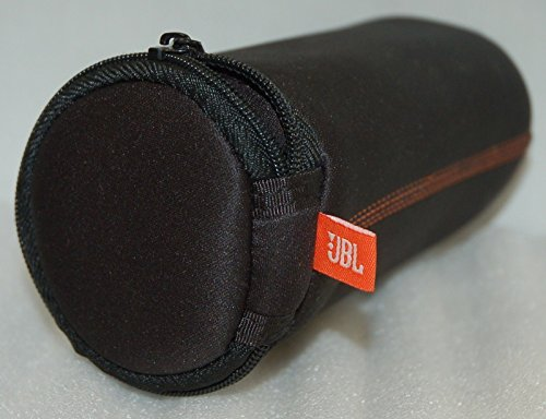 Original JBL FLIP Bluetooth Speaker 1 & 2 Protective Zipper Sleeve Case BLACK Pouch Soft Protection