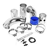 Universal Tubos de Montaje del Filtro de Aire del Coche Kit de Admisión de Alto Flujo de Inducción Conjunto de Aleación de Aluminio