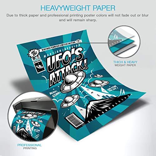 UFO Alien Attack Invasion Fun Matte/Glossy Poster A3 (42cm x 30cm) | Wellcoda