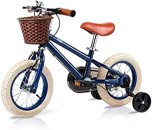 Kinder fahrrad Weißich junge fahrrad 2-3-6-10 jahre alt schüler fahrrad Stoßdämpfer aufblasbare rad abnehmbare Hilfsrad perfekte geschenk (Farbe   schwarz, Größe   16INCH(80CM52CM115CM))