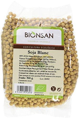 BIONSAN - BIO - Soja Blanc 500 g - Lot de 6