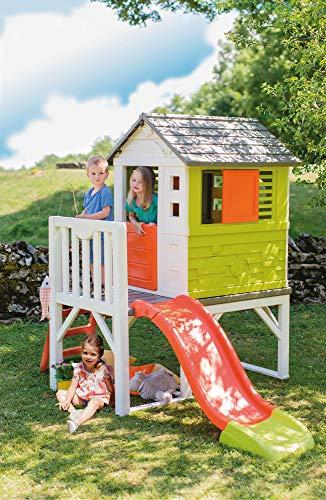 Smoby – Stelzenhaus - Spielhaus mit Rutsche, XL Spiel-Villa auf Stelzen, mit Fenstern, Tür, Veranda, Leiter, für Jungen und Mädchen ab 2 Jahren - 10