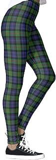 DIYCCY - Pantalones de yoga escoceses para mujer, cintura alta