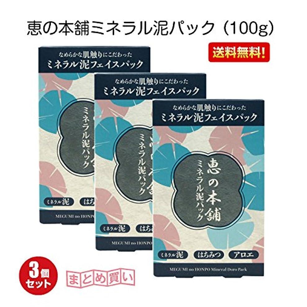 媒染剤落花生感動する恵の本舗ミネラル泥パック (100g)3個セット