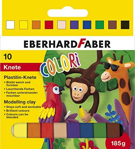 Eberhard Faber 572011 - Colori Plastilin-Knete in 10 leuchtenden Farben, weich und formbar, im Kartonetui, für kreativen Bastel- und Knetspaß