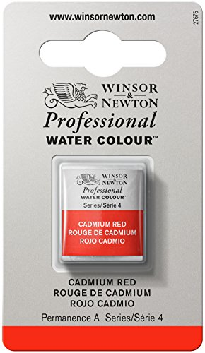 Winsor and Newton Artists Watercolour Cadmium Red (4) Half Pan
