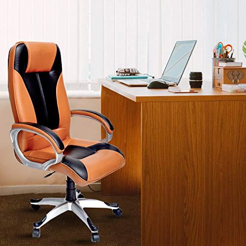 High Living EROS Chair (Engineered Wood, Tan and Black), Standard