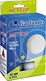Garlando Meteor Table Tennis Balls, White 40 mm Regulation Size, 1 Star Rating, 6 Pack