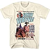 John Wayne Hollywood Icon Actor Greatest Cowboy Legend Western Adult T-Shirt